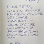 Begleitschreiben von Wolfgang Nutsch